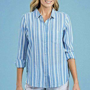 New Fresh Produce S M L XL Arwen Blue Striped Top